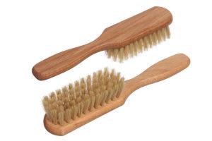 Щётка для волос из бука с натуральной щетиной фото2