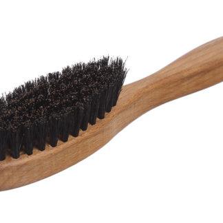 Компактная щётка с ручкой для бороды_чёрная щетина_фото 1