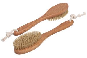 Щётка для сухого массажа из бука и натуральной щетины арт ЧТ-301 Экобраш фото 2